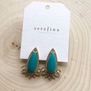 NWT Anthropologie Serefina Turquoise Post Earrings